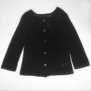 Calvin Klein Jeans Large Knit Black Cardigan